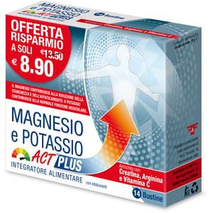Magnesio e Potassio ACT plus 14 buste