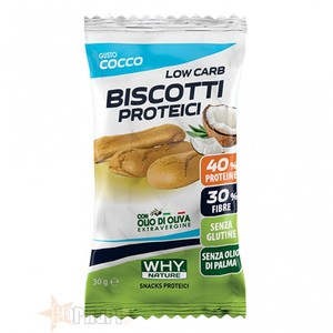 WHYNATURE Biscotti proteici Cocco 30 gr