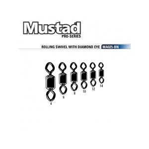 MUSTAD ROLLING SWIVEL WITH DIAMOND EYE MA025-BN
