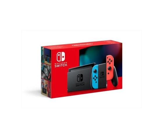 Nintendo switch 11 con joy con rosso neon e blu neon
