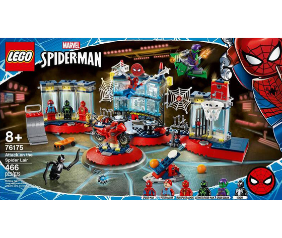 Lego marvel avengers spiderman attack lair 76175 2