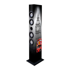 New Majestic TS 84R BT/USB/SD/AX TOWER SPEAKER LONDON RED BUS