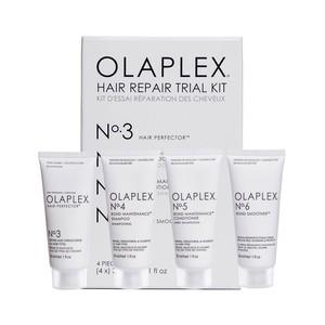 Olaplex Set Completo Ricostruzione per Capelli Danneggiati e Crespi N.3-4-5-6 Travel Kit 30ml