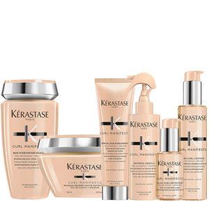 Kerastase curl manifesto huile 50ml+ shampoo 250ml+masque 200ml+ crème de Jour150ml+gelée curl150ml+spray 190ml