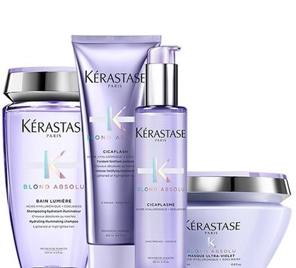 Kerastase blond absolu bain lumiere cicaflash masque cicaplasme pack