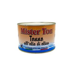 Tonno all'olio di oliva, 1650 G - Mister Ton