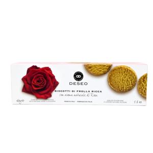 Biscotti di frolla ricca aroma naturale di rosa - Deseo