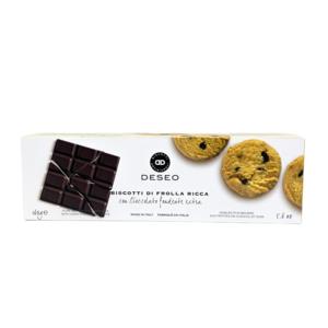 Biscotti di frolla ricca con cioccolato Extra Fondente - Deseo