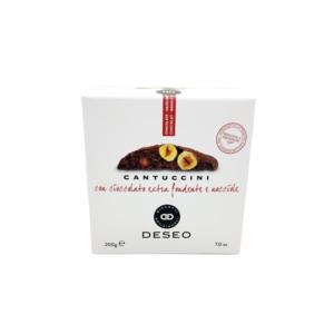 Cantucci con cioccolato extra fondente e nocciole - Deseo
