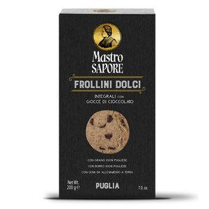 Frollini dolci integrali con gocce di cioccolato - Mastro Sapore