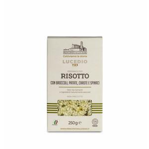 Risotto con broccoli, patate, carote e spinaci - Lucedio
