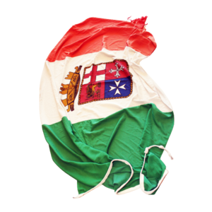 BANDIERA DELLA MARINA MILITARE ITALIANA ORIGINALE VINTAGE
