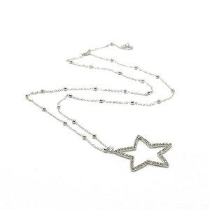 Collana CON stella con cristalli in Metallo - 3540676