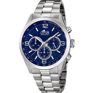 Lotus orologio cronografo uomo Lotus Minimalist ACCIAIO FONDO BLU REF 18152/4