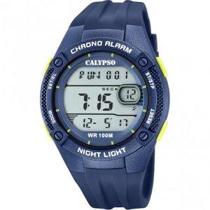 Calypso Orologio digitale blu con particolari verdi
