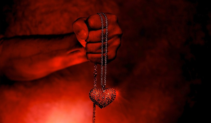 Heart color background the devil fire gothic red beauty 1069703