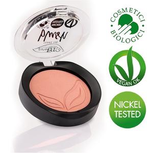 puroBio Cosmetics Blush n.01 Rosa Satinato con Riflessi Dorati