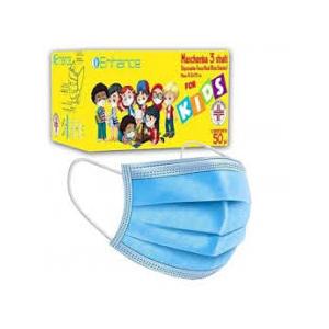Mascherina chirurgica per bambini azzurra