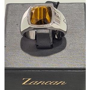 """anello uomo in argento 925% con pietra dura """"occhio di tigre"""""""
