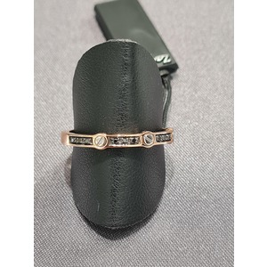 anello uomo in oro rosa18 carati e diamanti