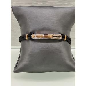 bracciale uomo in cordino nautico argento 925% e oro rosa 18 carati