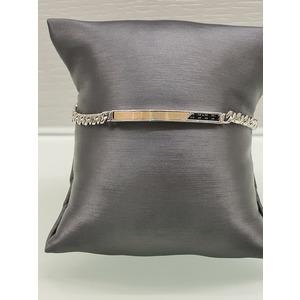 bracciale uomo in  argento 925% e oro rosa 18 carati