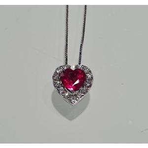 collana rubino e diamanti