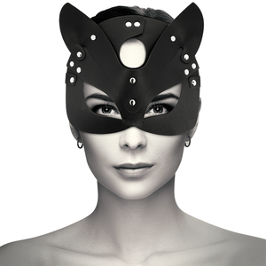 COQUETTE VEGAN LEATHER MASK WITH CAT EARS
