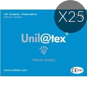UNILATEX - PRESERVATIVI NATURALI PACK 25 X 144 UNITÀ