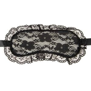 LEG AVENUE FLORAL LACE AND SATIN EYEMASK ONE SIZE