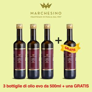 promozione 3+1 Olio evo di peranzana bottiglia 50 ml