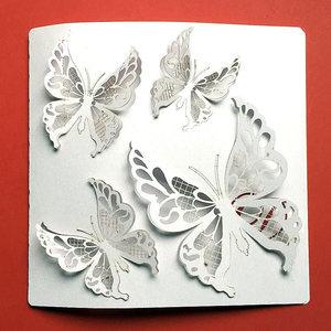 partecipazione matrimonio farfalla