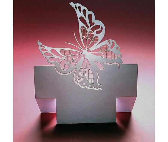 Segnaposto pranzo nozze farfalla