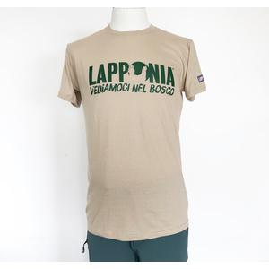T-Shirt Lapponia by Giorgio Lugaresi  Sabbia logo Lapponia VNB verde