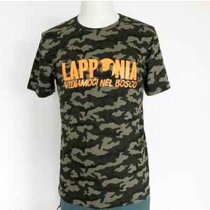 T-Shirt Lapponia by Giorgio Lugaresi  Camouflage Verde  logo Lapponia VNB arancio