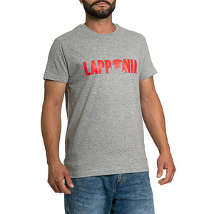 T-Shirt Lapponia by Giorgio Lugaresi  grigio melange logo Lapponia rosso