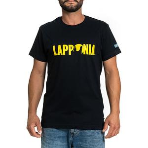 T-Shirt Lapponia by Giorgio Lugaresi  blu navy logo Lapponia giallo