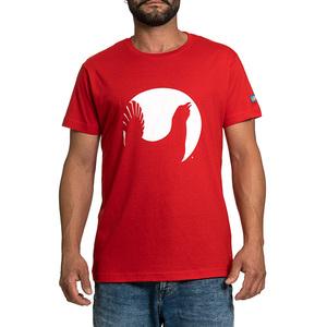 T-shirt Lapponia by Giorgio Lugaresi  rossa logo Cedrone bianco