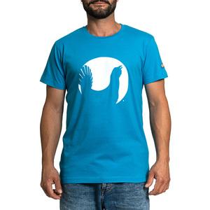 T-shirt Lapponia by Giorgio Lugaresi  turchese logo Cedrone bianco