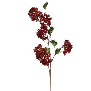 hydrangea spray red - l100xw26cm