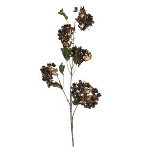 hydrangea spray brown - l100xw26cm