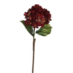 hydrangea stem red - l64xw20cm
