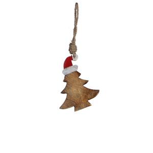 ornament tree l. brown - l10xw1xh10cm