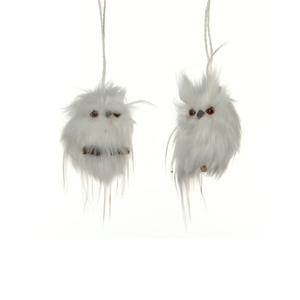 a2 ornament owl l6w6h10 white