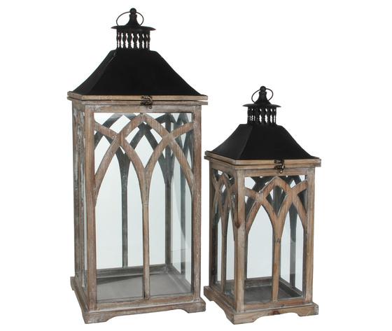 lantern brown - l20xw20xh52cm