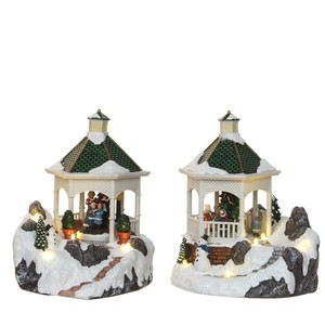 gazebo 2 assorted battery operated - l17xw14xh19cm