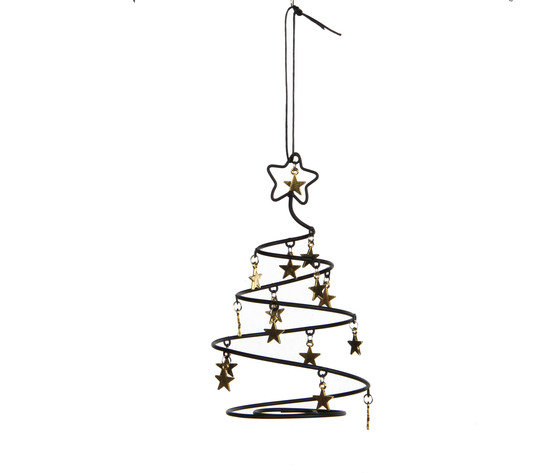 ornament tree gold - h14,5xd8,5cm