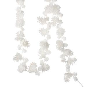 garland pine cone l18 white