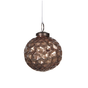 ornament ball l. brown - d7,5cm