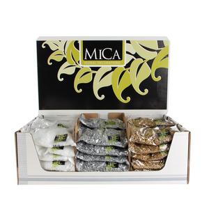 MICA WHITE SILVER GOLD SNOW